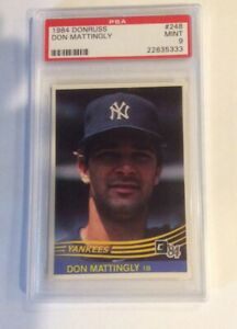 1984-Donruss-248-Don-Mattingly-New-York-Yankees-RC-Rookie-PSA-9-MINT