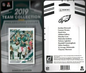 2019-Donruss-Philadelphia-EaglesTeam-Collection-NFL-Trading-Cards-Wentz-Ertz