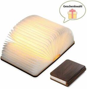 LED-Buch-lampe-Buchlampe-aus-Holz-usb-stimmungslichter-Tischleuchte-Lampen-DE