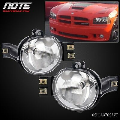 Fit For 02-08 Dodge Ram 1500//03-09 Dodge ram 2500 ram 3500//04-06 Dodge Durango OE Clear Fog Lights Pair+Bulb Driver and Passenger Side Driving Lamps