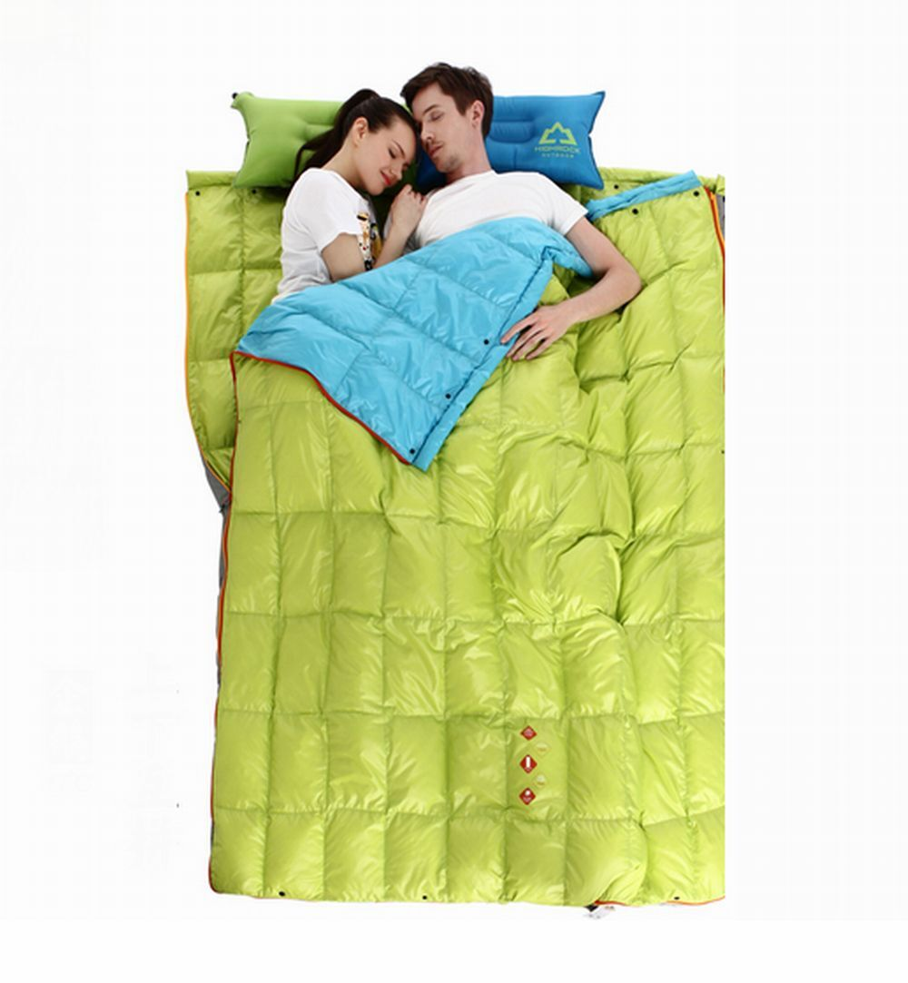 Shiny glossy  wet-look rectangular down sleeping down quilt 3 saison outdoor new  lowest prices