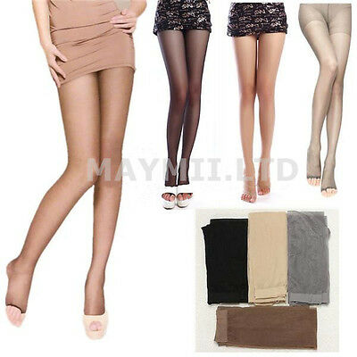 New Women Girl Lady Open Toe Thin Transparent Thigh High Pantyhose Tights JC