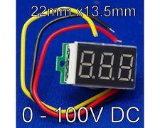 0-100V Voltage Meter LED Digital Display Mini DC Digital Voltmeter 0 to 100V UK