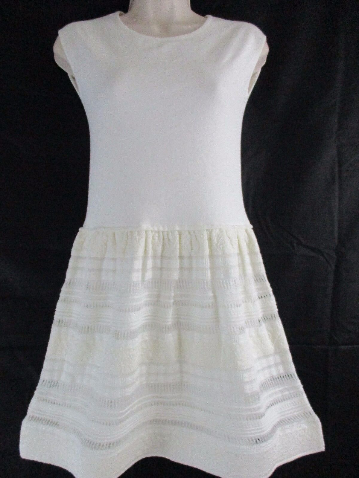Atos Lombardini Woherren Weiß Stretch Calse Short Dress Größe 2 IT 38     U5