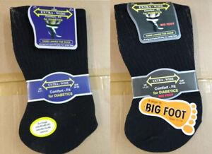 New Mens 12 Pack Extra Wide Big Foot UK 11-14 Non Elastic Stretch Diabetic Socks