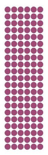 "3//8/"" Plum Round Vinyl Color Code Inventory Label Dot Stickers"