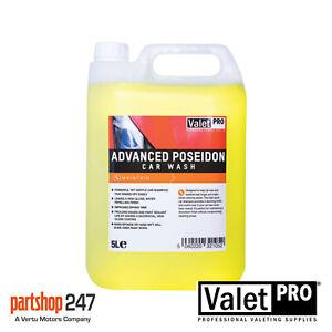 ValetPro Advanced Poseidon Car Wash / Shampoo 5 Litre High Gloss Wax Safe
