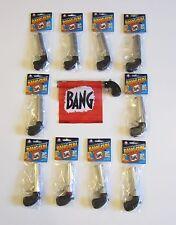10 NEW BANG GUN PISTOLS WITH FLAG COMEDY PROP GUNS GAG GIFT MAGIC TRICK
