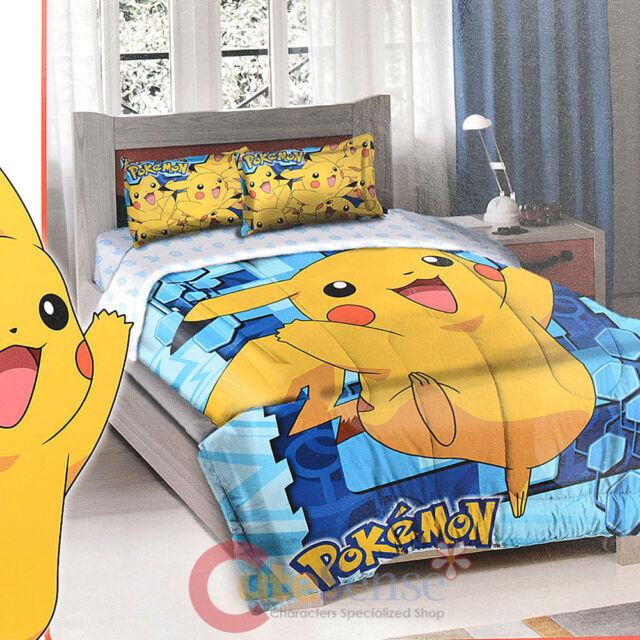 Nintendo Pokemon Pikchue Bedding Comforter Sharm Set - Twin / Full GO PIKACHU