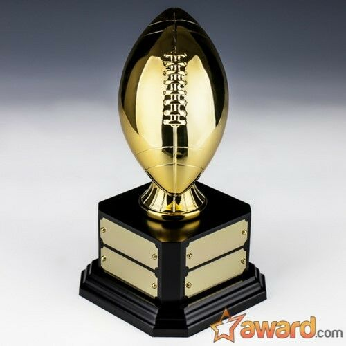 Fantasy Football Trophy Perpetual - 8 Years - gold - 8.5  - Free Engraving