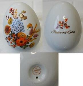 Avon-Gifts-of-Nature-1987-Autumn-039-s-Color-Porcelain-3-034-Egg-Only-No-stand