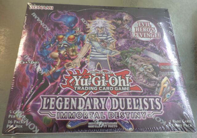 Yu-Gi-Oh Cards Legendary Duelists Immortal Destiny Booster BOX  1st Edition