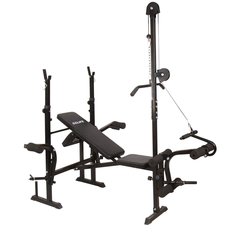 Panca fitness multifunzione panca pesi con porta bilanciere regolabile