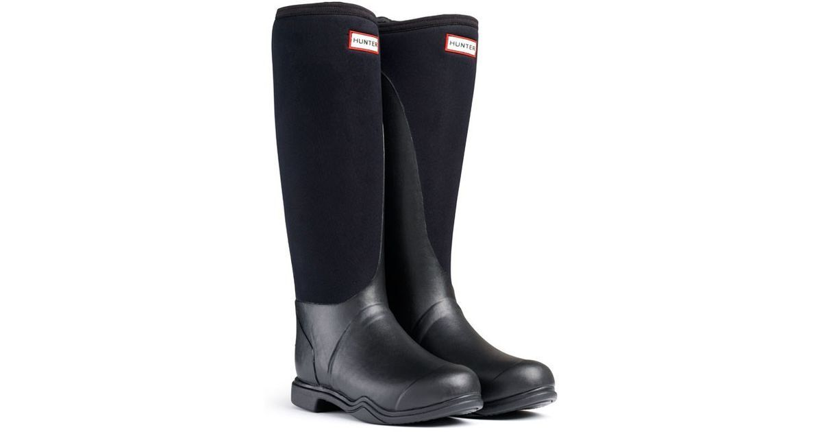Hunter Balmoral Equest NEO Stretch Nero Donna in Gomma UK3-8