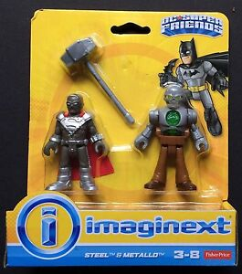 Fisher-Price-Imaginext-DC-Super-Friends-Steel-and-Metallo-New