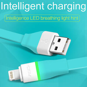 ROCK LED Auto-Disconnect Lightning Data Sync USB Charging Cable For ... 653a3ebaaf49e