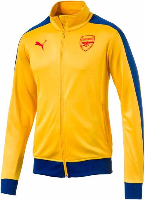 Puma Para hombres AFC T7 Arsenal FC Soccer Track chaqueta Spectra Amarillo TL32247