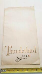 1961-THUNDERBIRD-Original-Prestige-Sales-Catalog-Fair-Good-Condition-US