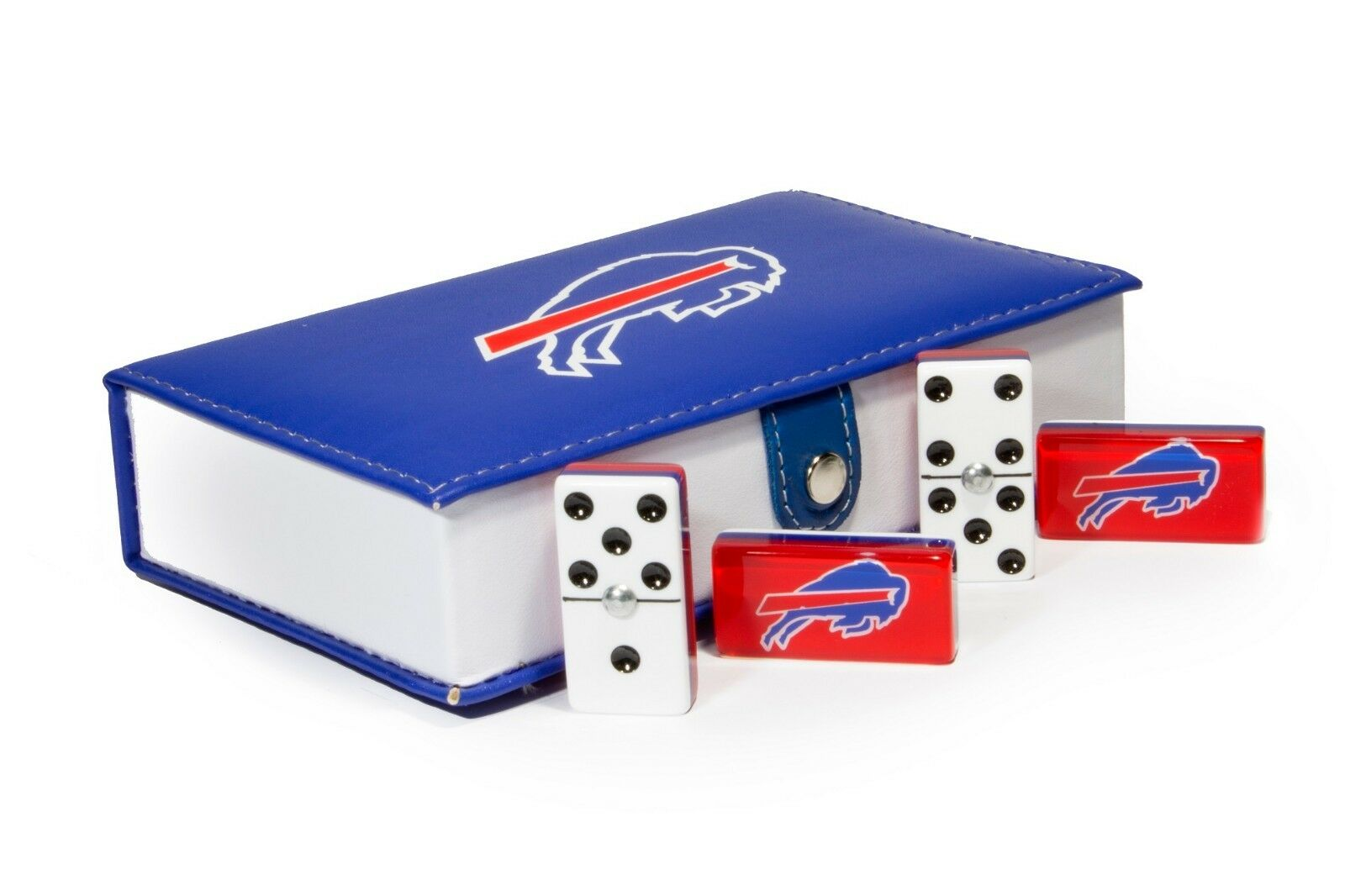 Buffalo Bills Domino 100% Acrylic, Faux Leather Case