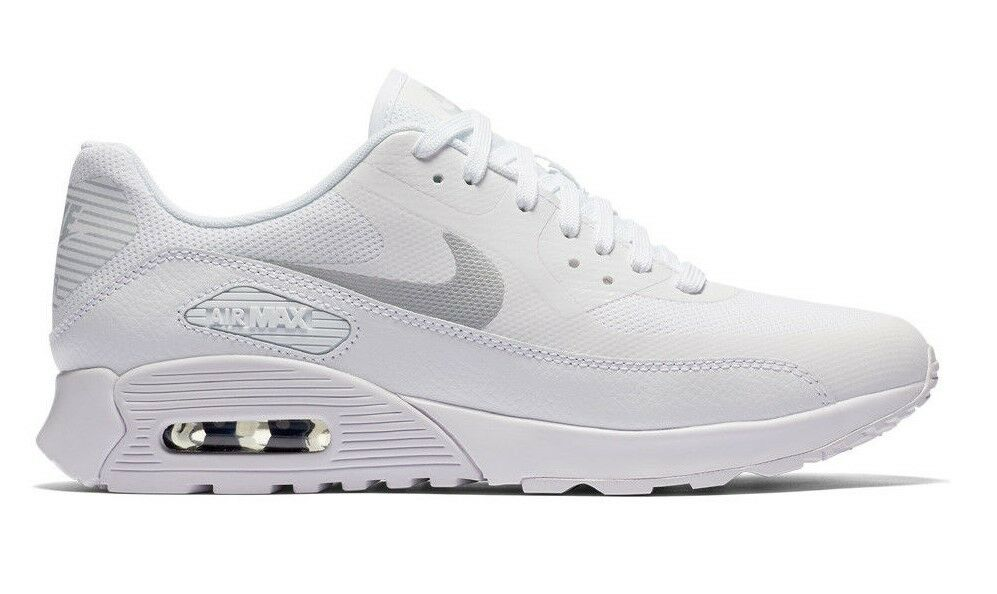 NIKE AIR MAX 90 ULTRA 2.0 WHITE/PLATINUM SHOES SIZE 8.5 BRAND NEW (881106-101)