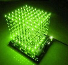 3D Squared DIY Kit 8x8x8 3mm LED Cube White LED Blue/Red Light PCB Board K9