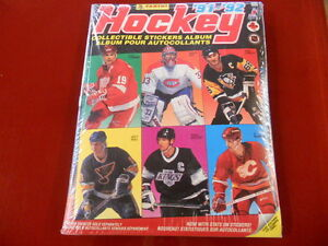Hockey-039-91-039-92-Sticker-Album-Panini-Sealed-with-all-stickers-New-Rare