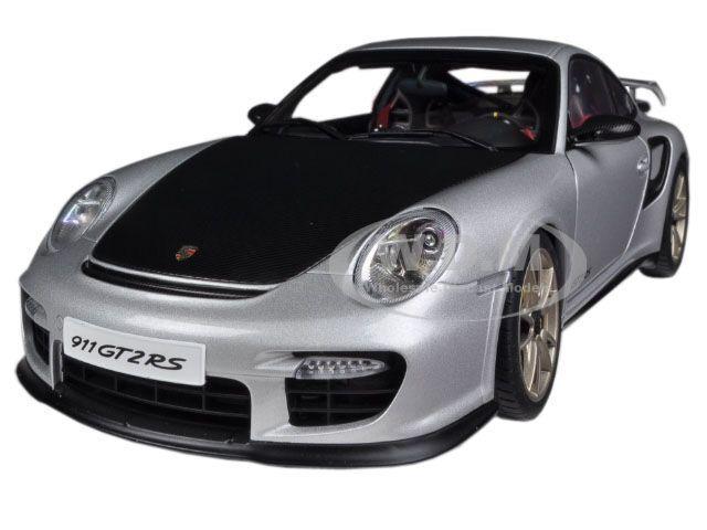 Porsche 911 (997) Gt2 Rs Plata 1 18 Diecast Model Coche By Autoart 77961