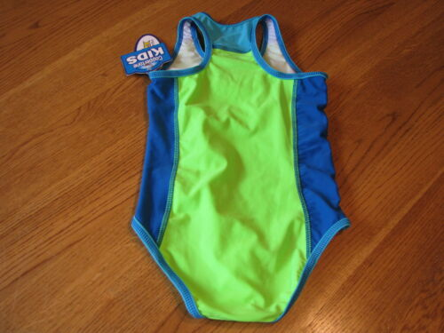 Coppertone Kids Pro Tex uva//upf50 girls 1 piece swim suit Bathing 5 grnbl NWT*^