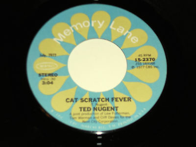 "TED NUGENT Cat Scratch Fever 45 VG++ Free For All 15-2370 Memory Lane 7"" vinyl"