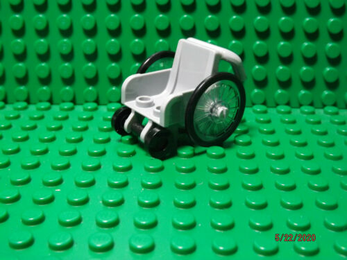 Lego NEW light bluish gray W// black tires minifig wheelchair
