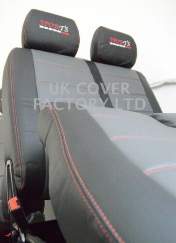 CITROEN Berlingo Empresa Furgoneta Fundas De Asiento Gris Negro Acolchado X 120 GYBK-RD