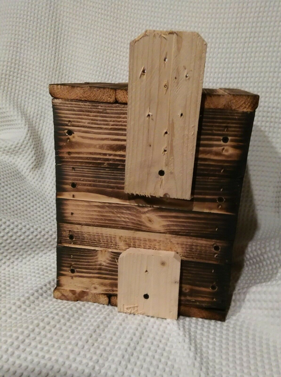1= KESTREL.HAWK.Nesting Box.House.OHIO.FIRE HARDED PINE.BY HOLLEY  FOR QUALITY