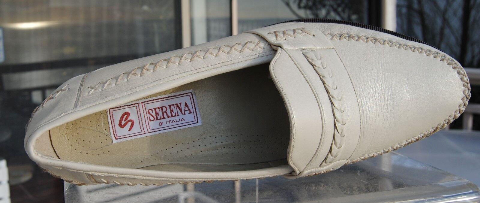 Serena D'Italia-Uomo ITALIAN White/Ivory  Deer Skin Slip On -Size -Size -Size 11.5 9ebb8c