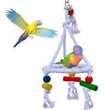 Hängend Seil Papagei  Vogel Kauen Haustier Sittich dreieckig Spielzeug Swing