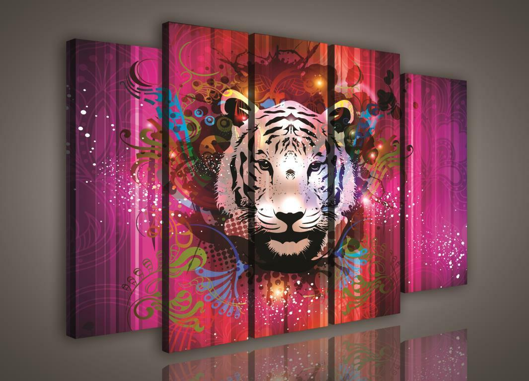 Toile la fresque peintures murales poster toile photo animal tigre Couleuré 3fx988s12