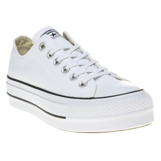 1657b6d1f98a Converse Chuck Taylor All Star Lift Low Top White 560251c Platform Womens  Size 8 for sale online