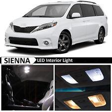 2015 Toyota Sienna White Interior LED Lights Package Kit