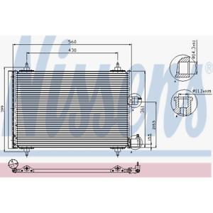 Condensador aire acondicionado-Nissens 94542