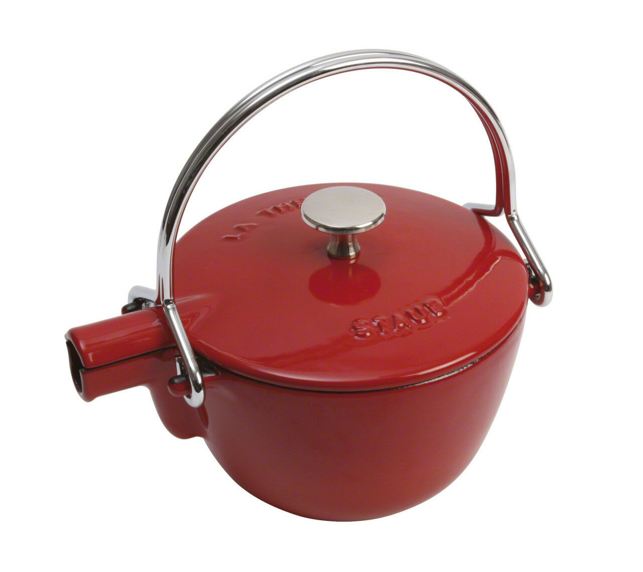 Staub Kettle Round Cherry 16,5 cm Induction Suitable Water Heater Teapot