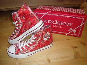 Krueger-Madl-Sneaker-Hot-Kisses-Schuhe-Damen-rot-weiss-4165-Gr-36-39-41