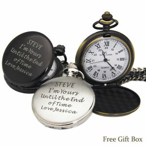 Personalised-Engraved-Pocket-Watch-Wedding-Valentines-Gift-Best-Man-Dad-Son