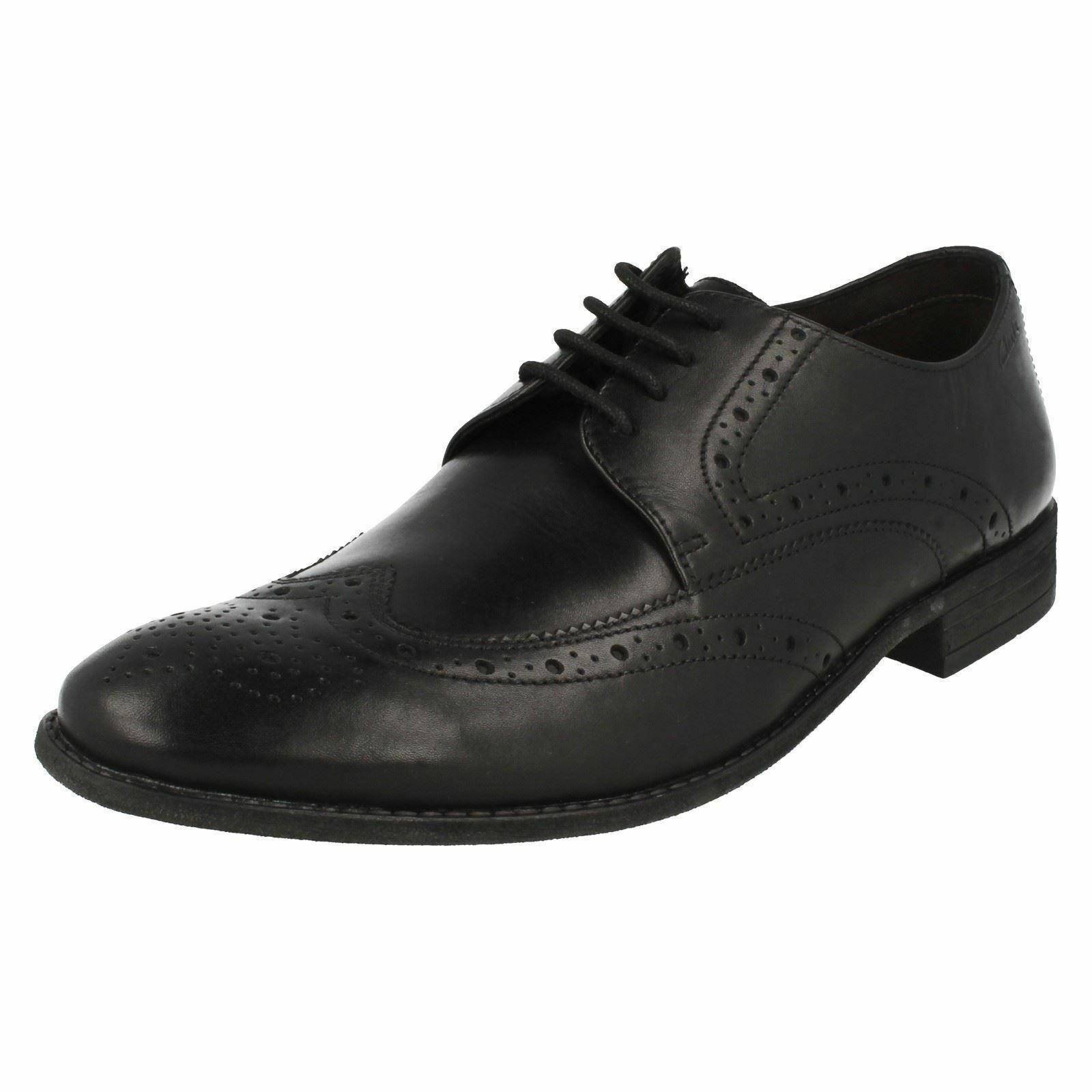 Mens CHART LIMIT Black leather shoes by CLARKS Retail £64.99