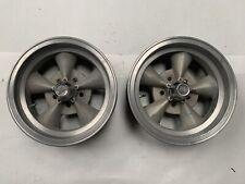 Vintage Keystone Torque Thrust Style Wheels 15x6 Ford Mopar Gasser Pair J17155