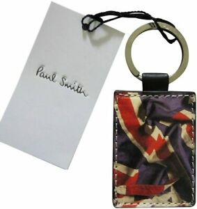 Paul Smith Abstract Union Jack Flag Leather Keyring