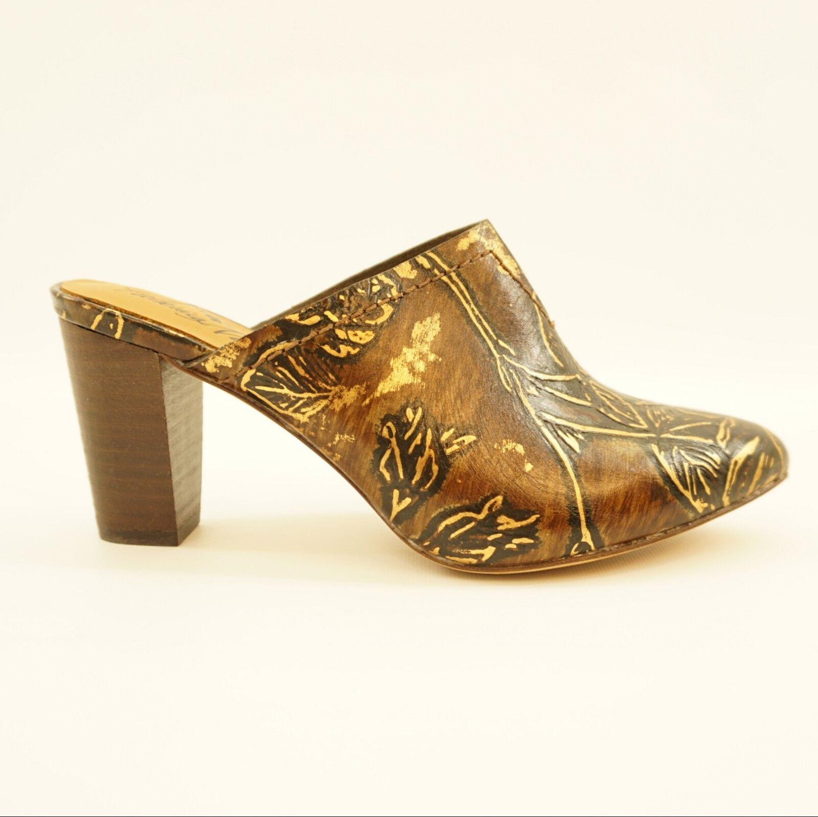 economico e alla moda Patricia Nash donna donna donna scarpe Ruffina Printed Leather Mules Marrone oro 6.5 DISPLAY  il miglior servizio post-vendita