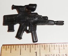 BIN A26  G I JOE Accessory  Black Assault Gun  2003 Flint  Red Spot ++ 2 FOR $1