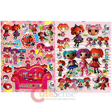 Lalaloopsy Friends Stickers Set 2 Sheets Removable Wall Window Vinyl Stickers