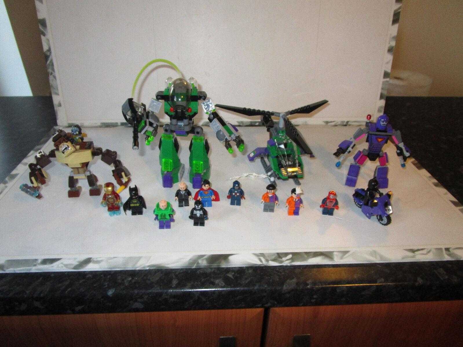 LEGO DC SUPERHEROES Bundle Lex Luther Mech Robot, The Sentinel, Gorilla beastetc | Que Nos Produits Vont Dans Le Monde