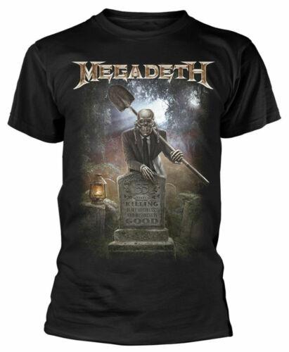 Officiel Megadeth T Shirt 35 ans cimetière classique homme rock metal Tee Noir