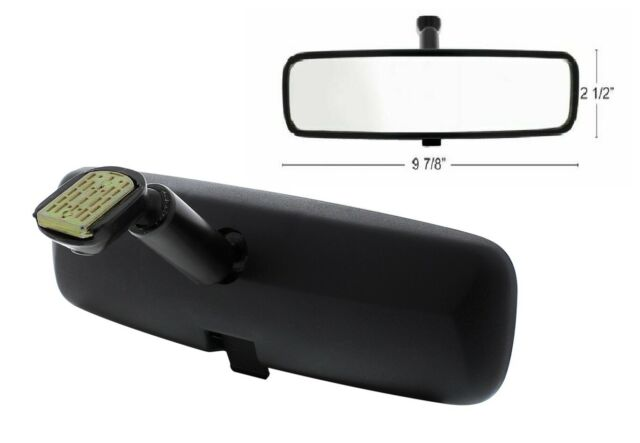 United Pacific 60053 Black 10 Day//Night Interior Rearview Mirror Assembly Flat Type Mount